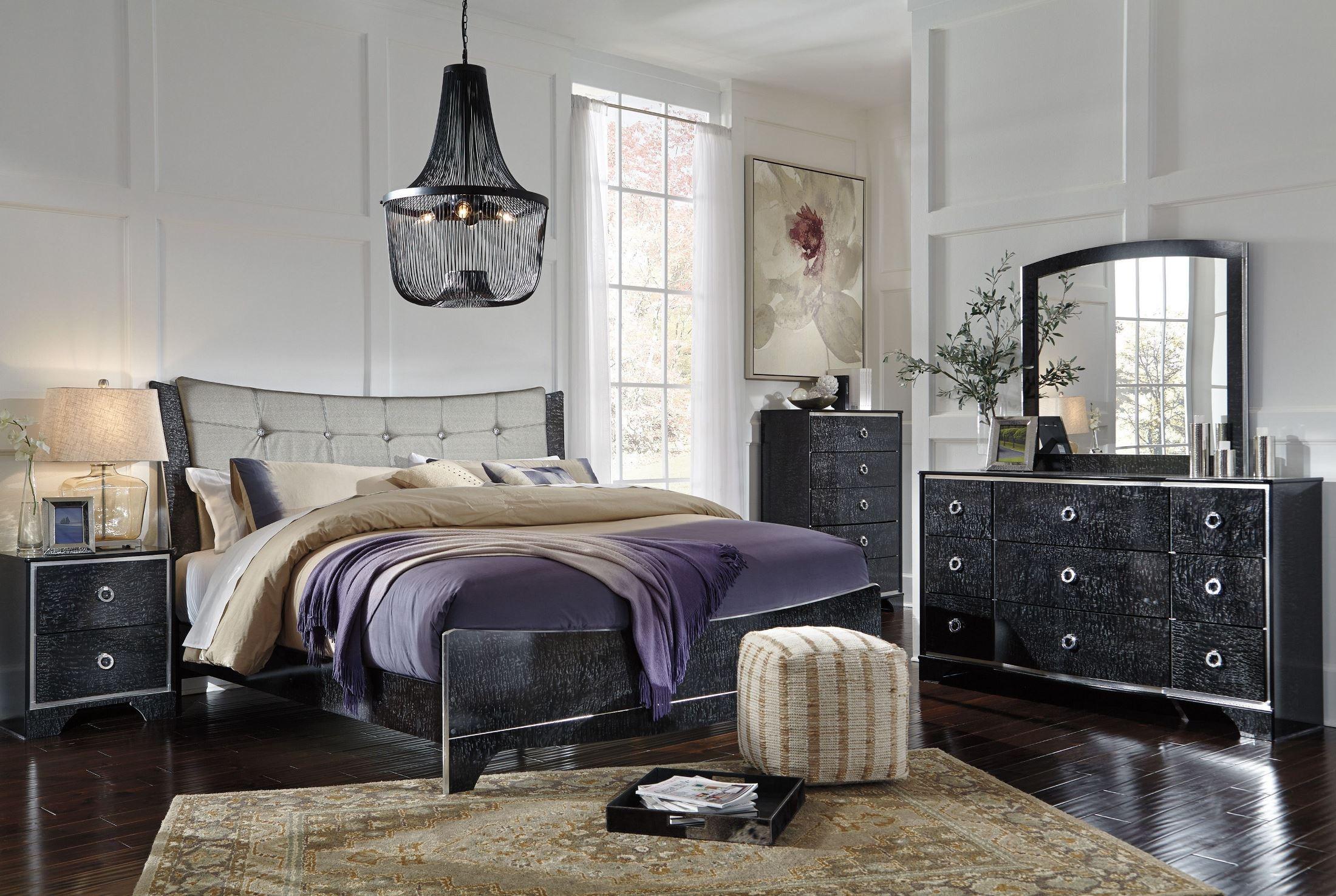 Amrothi Black Panel Bedroom Set B257575496 Ashley
