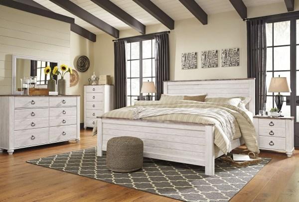 Willowton Whitewash Panel Bedroom Set B267-54-57-98 Ashley
