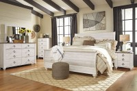 Willowton Whitewash Sleigh Bedroom Set from Ashley ...