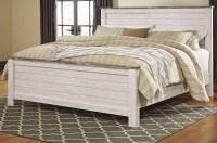 Willowton Whitewash Panel Bedroom Set, B267