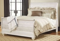Willowton Whitewash Queen Sleigh Bed from Ashley   Coleman ...