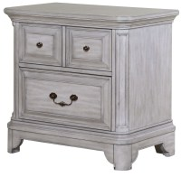 Windsor Lane Weathered Grey Wood Drawer Nightstand from ...