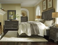 Cheswick Washed Linen Grey Panel Bedroom Set from ...