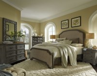 Cheswick Washed Linen Grey Upholstered Panel Bedroom Set ...