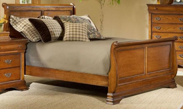 oak sleigh bedroom sets Shenandoah American Oak Sleigh Bedroom Set from Largo