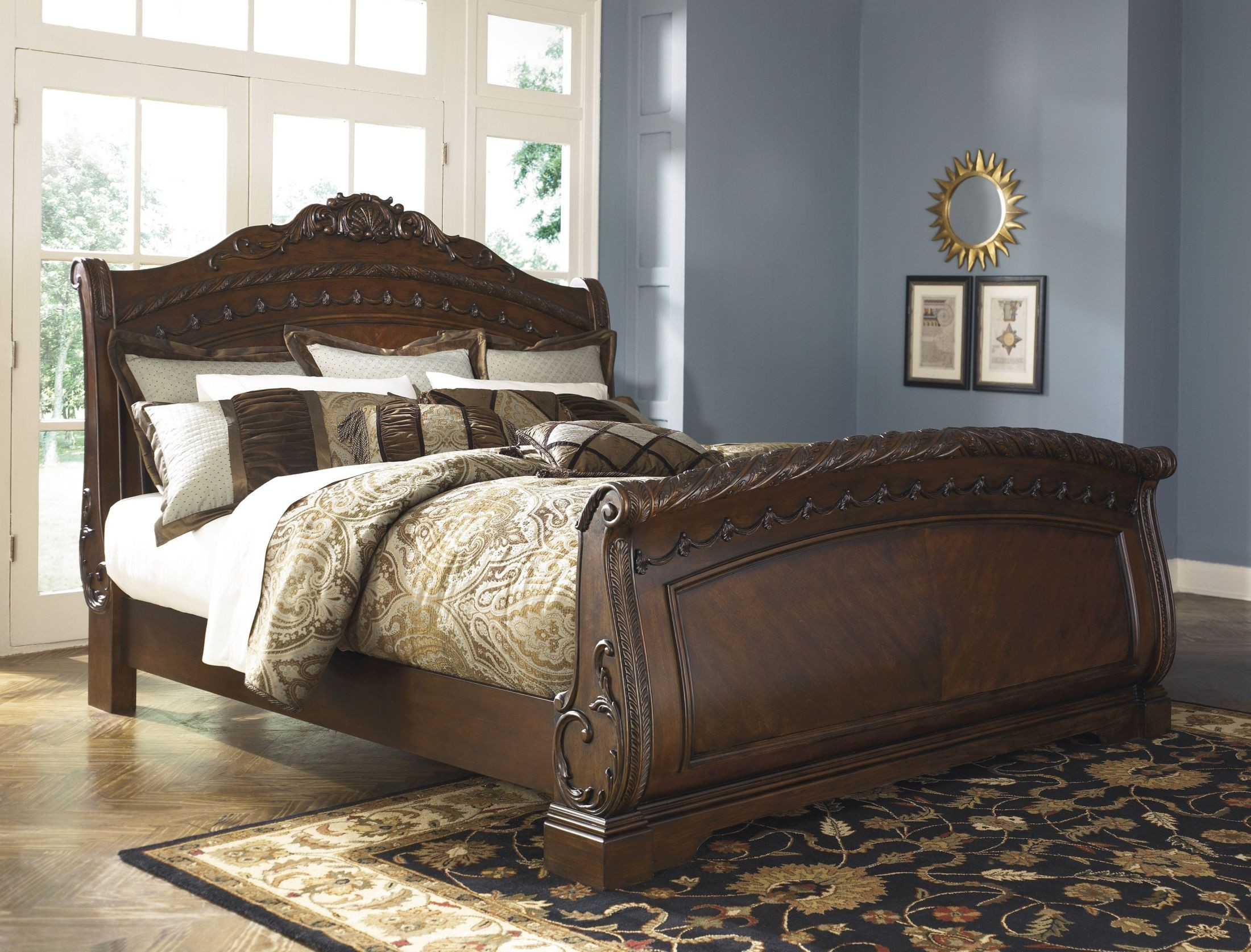North Shore Sleigh Bedroom Set from Ashley B553  Coleman Furniture