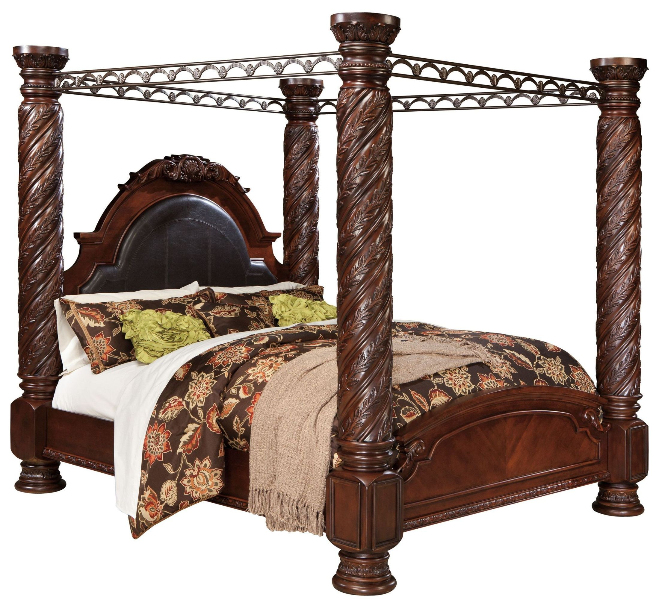 North Shore Cal King Poster Bed With Canopy From Ashley
