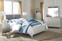 Olivet Silver Upholstered Panel Bedroom Set from Ashley ...