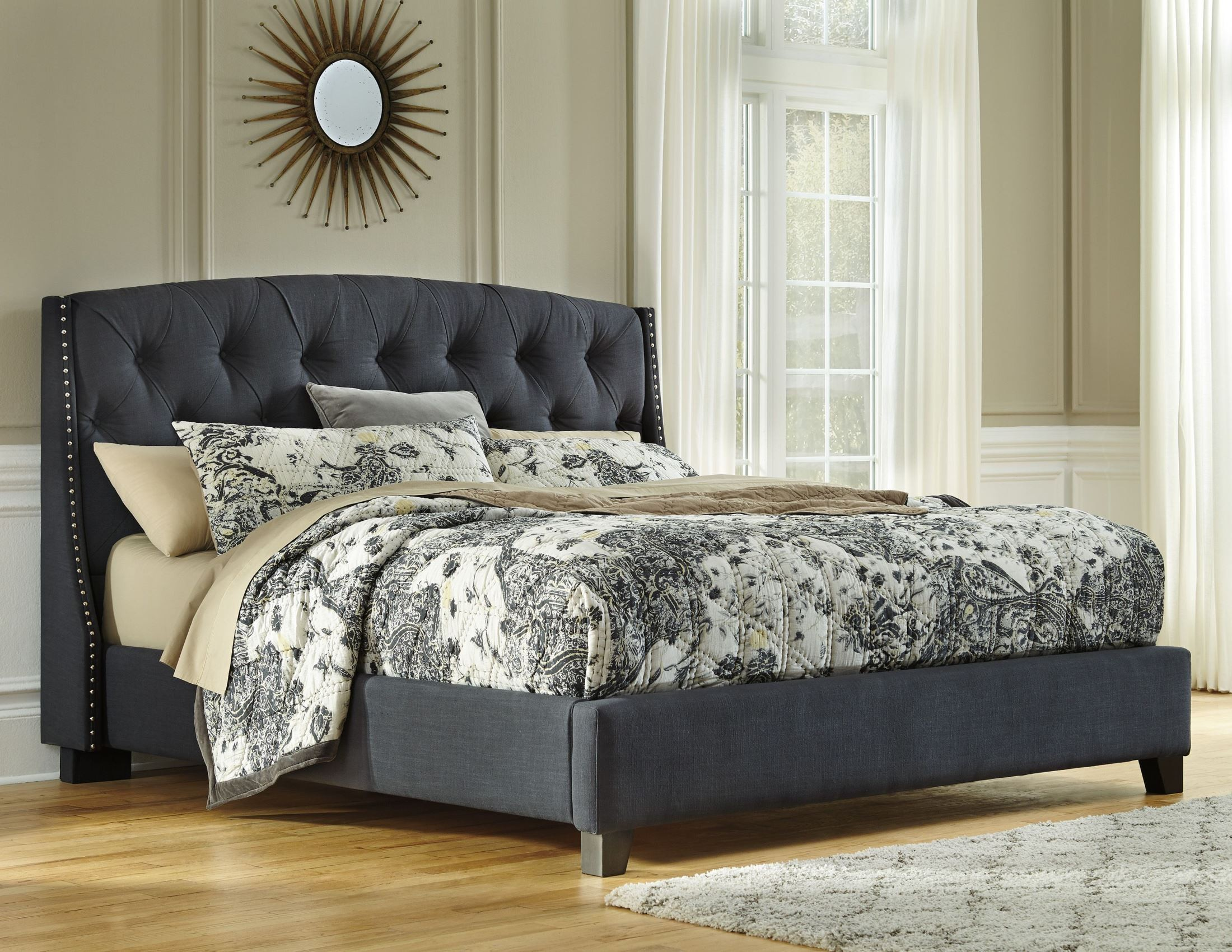 Cal King Upholstered Platform Bed From Ashley B600 558