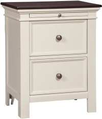 Woodanville White and Brown 2 Drawer Nightstand, B623-92 ...