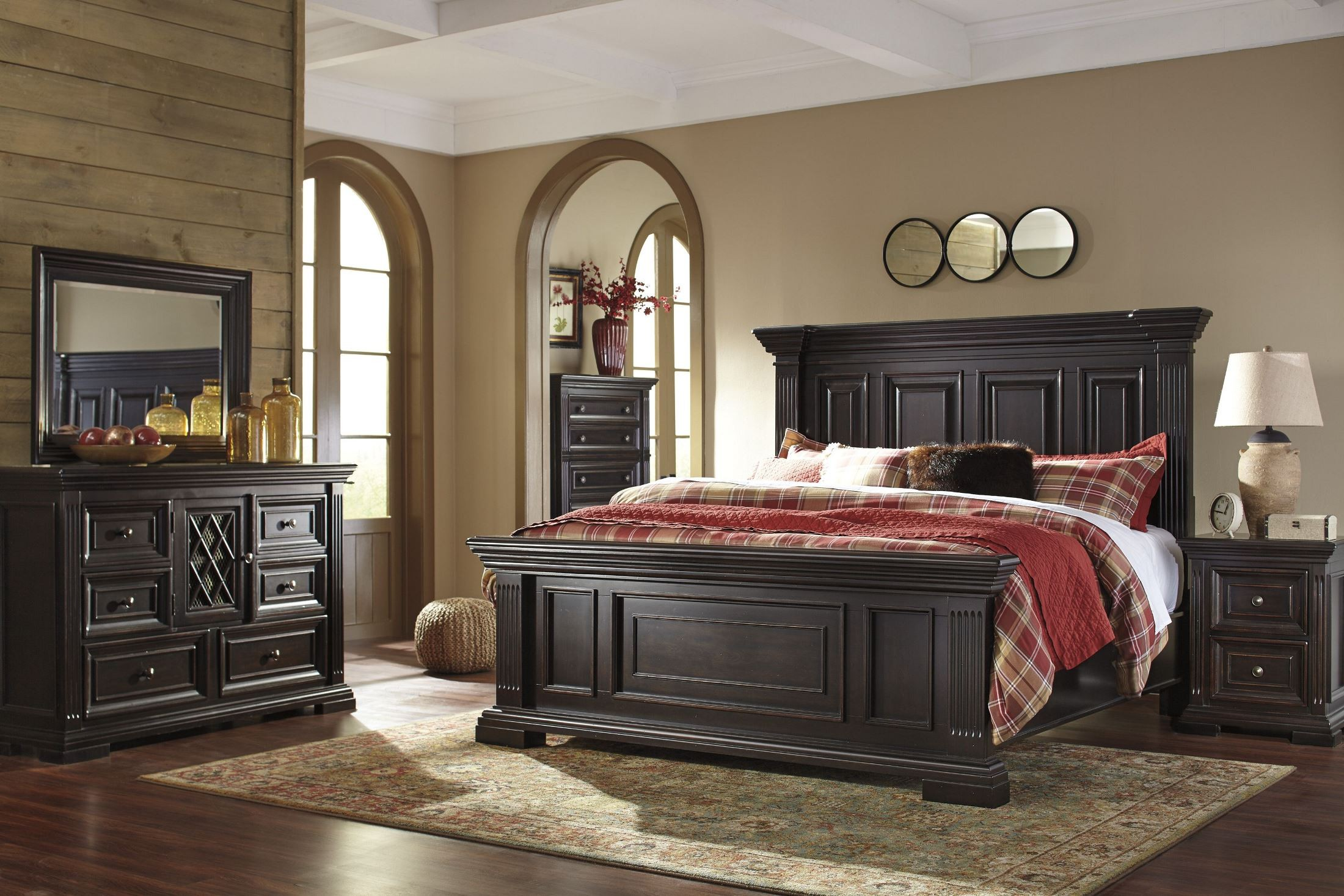Willenburg Dark Brown Panel Bedroom Set B643575496 Ashley