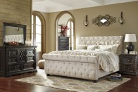 Willenburg Linen King Upholstered Sleigh Bed from Ashley ...