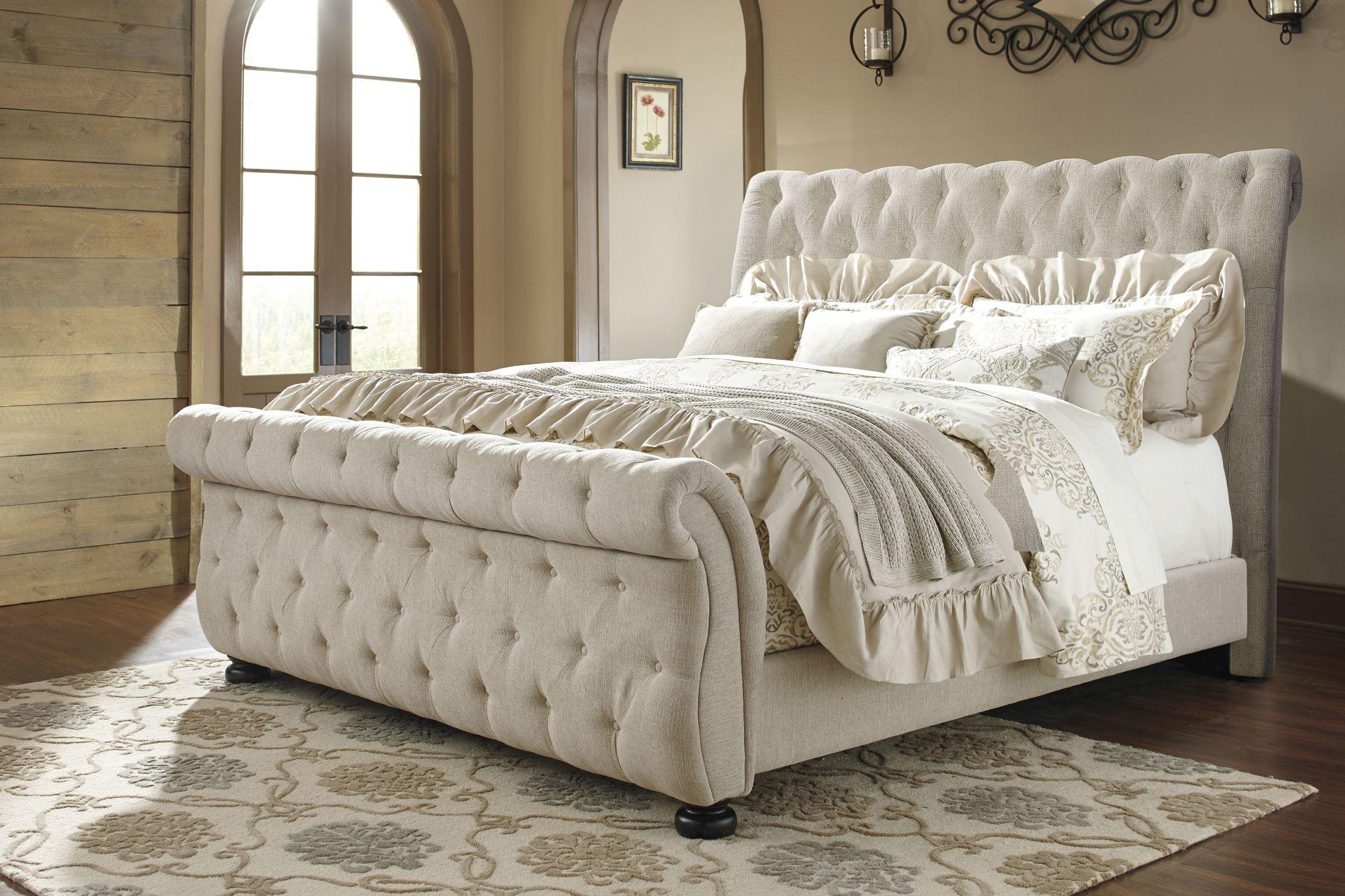 Willenburg Linen Queen Upholstered Sleigh Bed from Ashley