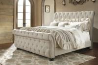 Willenburg Linen King Upholstered Sleigh Bed from Ashley ...