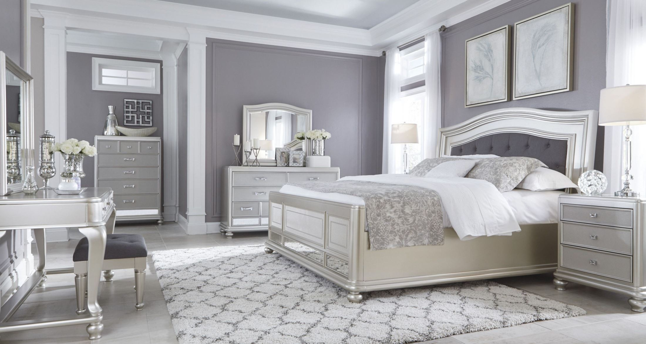 Coralayne Silver Bedroom Set from Ashley B6501575496  Coleman Furniture