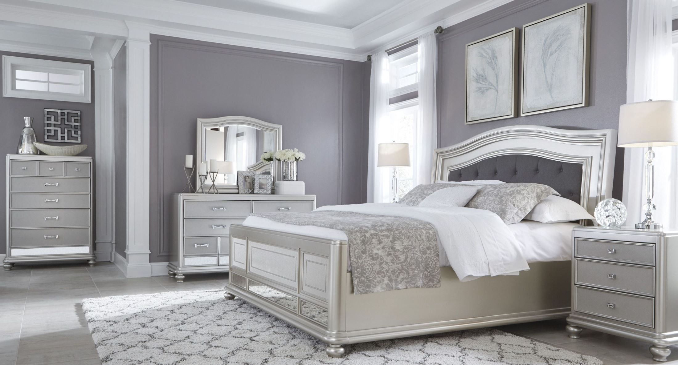 Coralayne Silver Bedroom Set from Ashley B6501575496