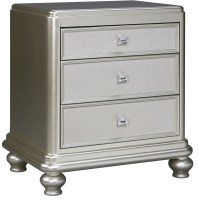 Coralayne Silver 3 Drawer Night Stand from Ashley (B650-93 ...