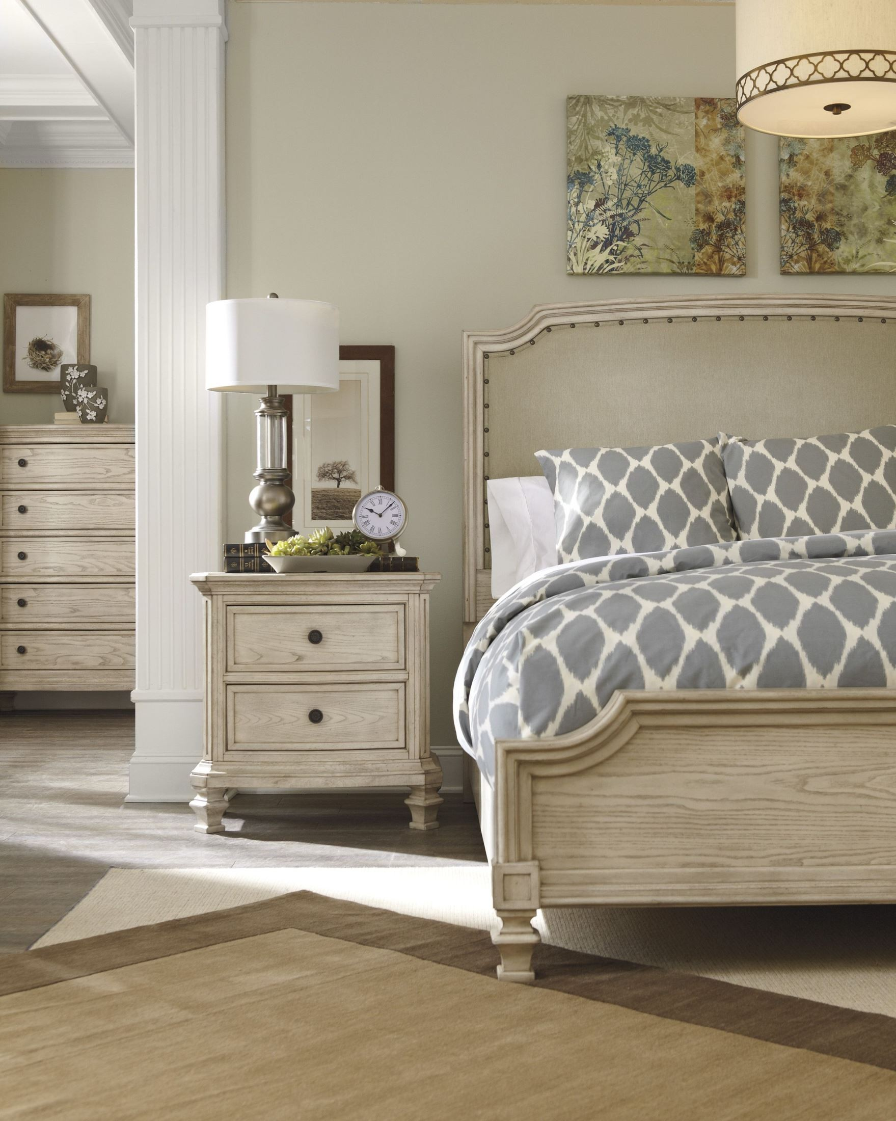 Demarlos Cal King Upholstered Panel Bed from Ashley B693767894  Coleman Furniture