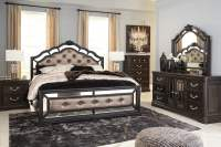 Quinshire Brown Upholstered Panel Bedroom Set from Ashley ...