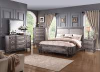 Allure Weathered Grey Sleigh Bedroom Set from Emerald Home ...
