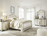 Cassimore North Shore Pearl Silver Sleigh Bedroom Set from ...