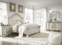 Cassimore North Shore Pearl Silver Panel Bedroom Set from