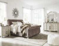 Cassimore North Shore Pearl Silver Upholstered Bedroom Set ...