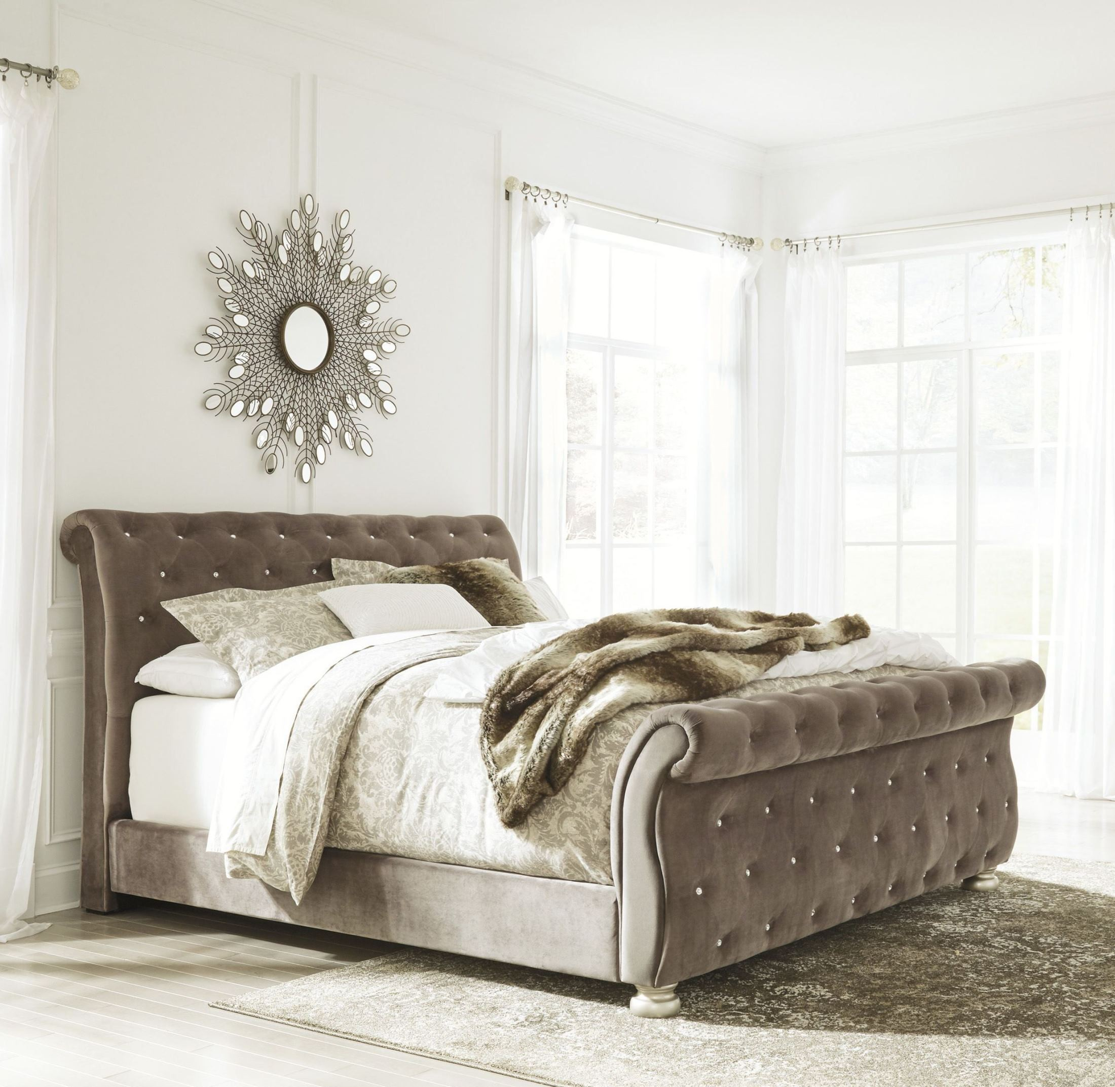 Cassimore North Shore Pearl Silver King Upholstered Bed From Ashley Coleman Furniture