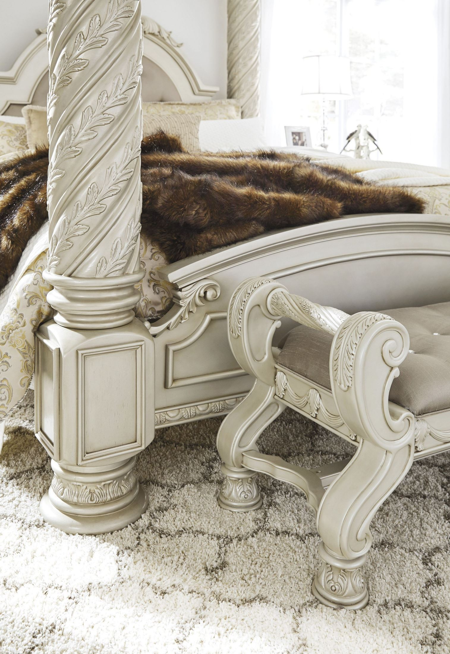 Cassimore North Shore Pearl Silver Cal King Upholstered