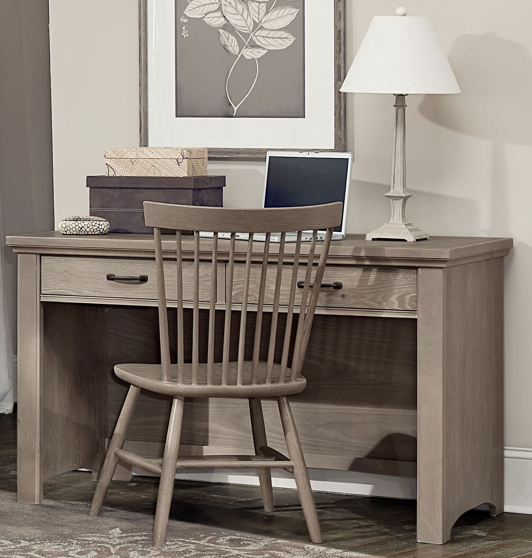 Transitions Driftwood Oak 2 Drawer Laptop Desk from