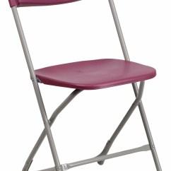 Hercules Folding Chair Ikea Poang Cover Series Premium Burgundy Plastic