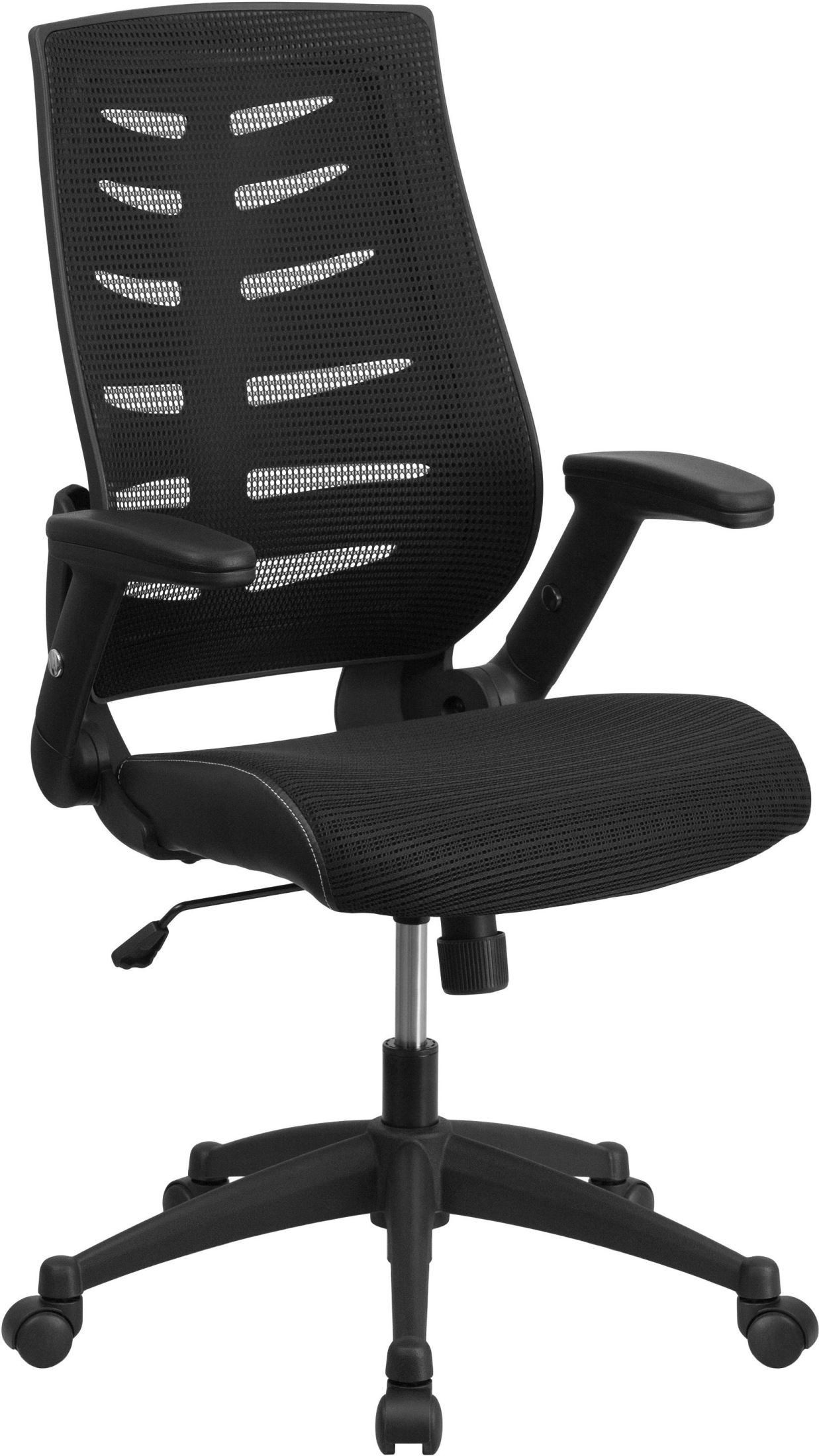 Adjustable High Chair High Back Black Executive Adjustable Swivel Office Chair