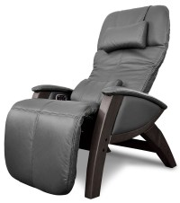 Svago Black Leather Benessere Chair With Walnut Wood Legs ...
