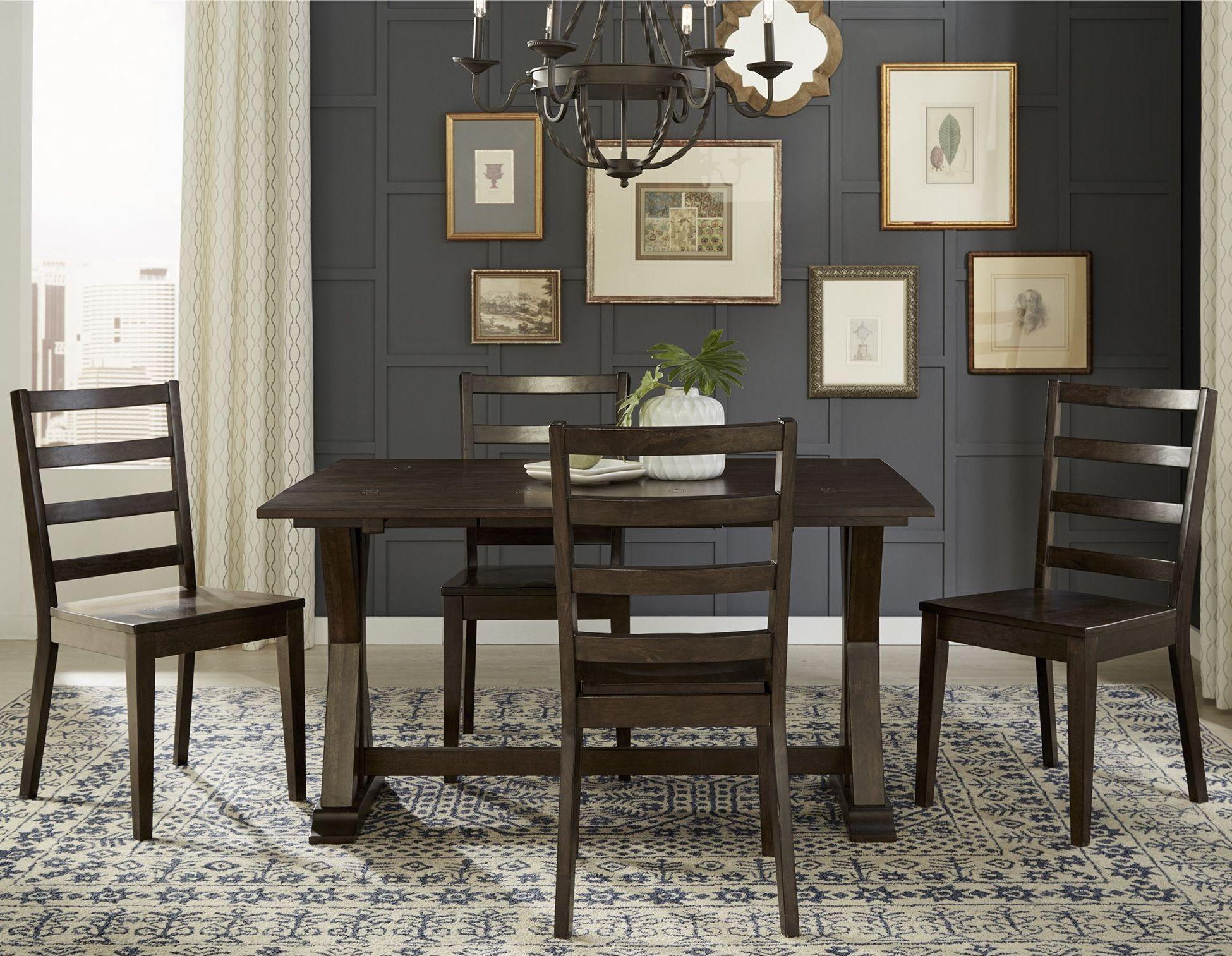 Brooklyn Heights Dark Grey Extendable Flip Top Dining Room