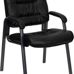 Black Side Chair Rocker Game Leather Executive With Titanium Frame