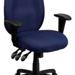 Coleman Lumbar Quattro Chair Wood Chaise Lounge High Back Navy Ergonomic Task Arm From Renegade
