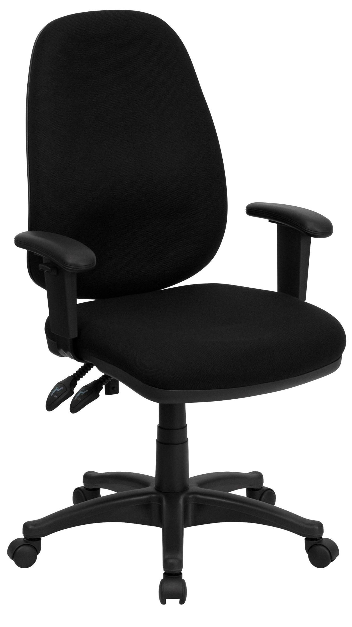 Computer Chairs High Back Black Ergonomic Computer Arm Chair From Renegade
