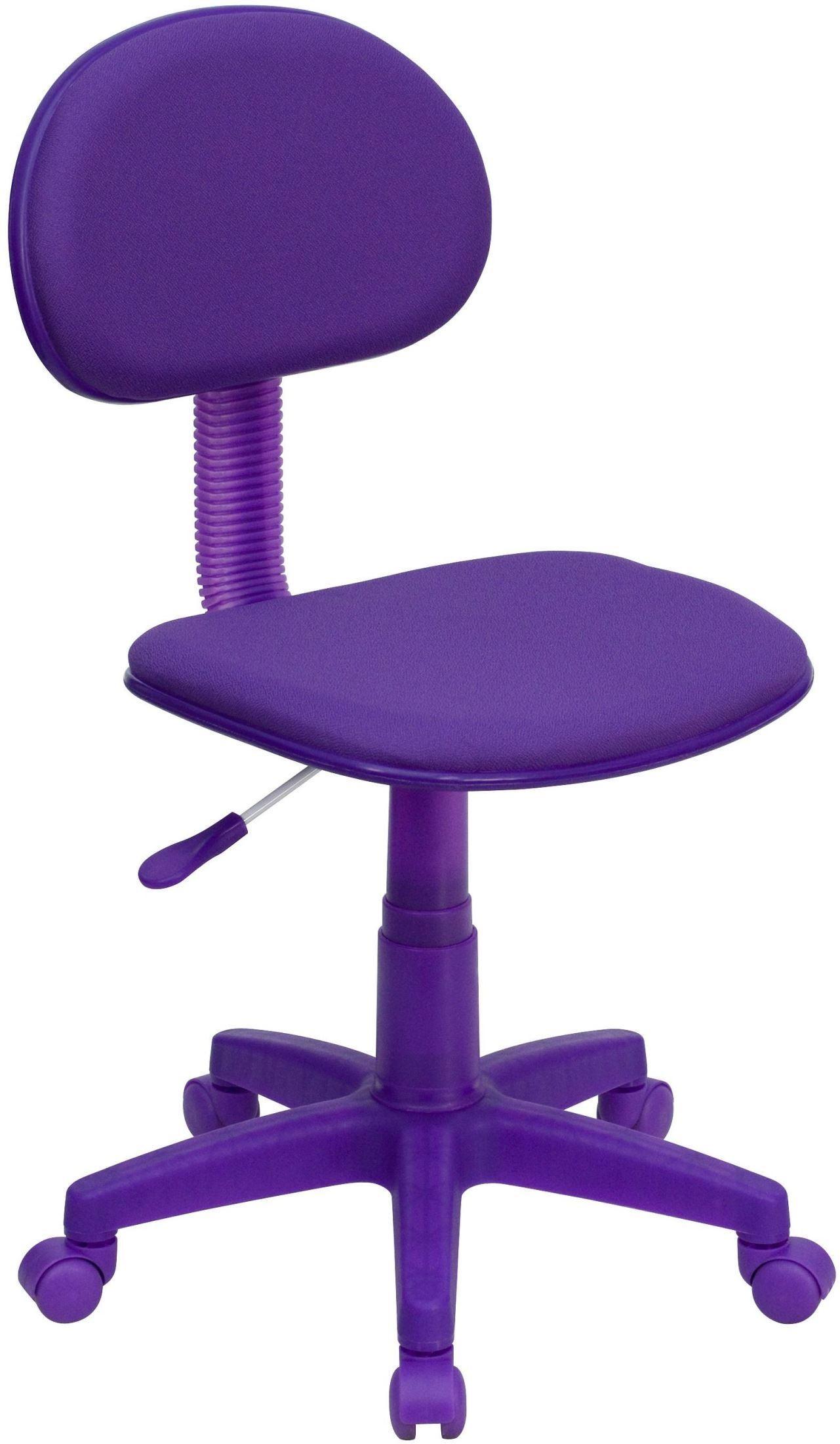 purple task chair galvanized metal ergonomic pneumatic seat height