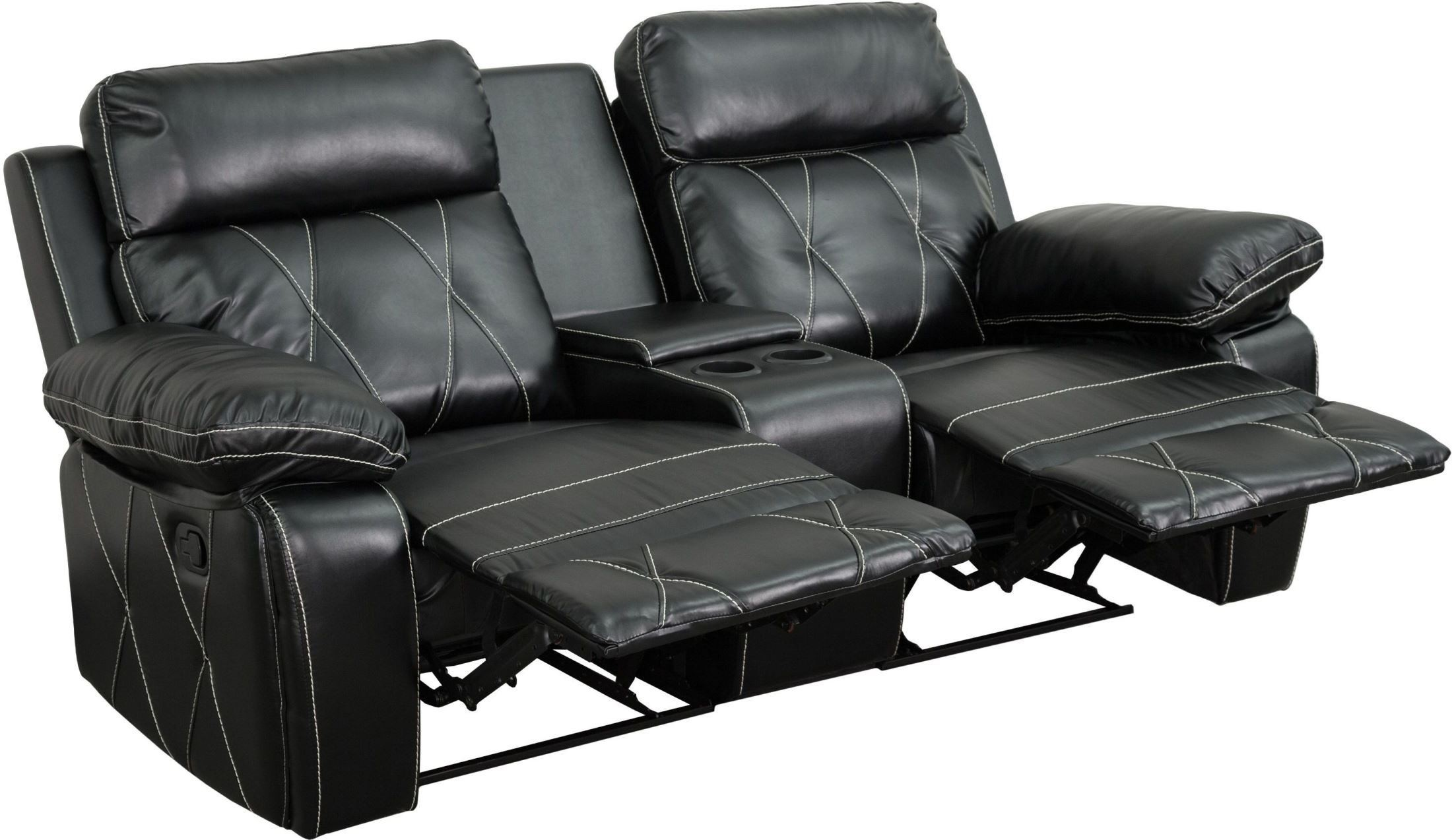 theater recliner chairs high chair that turns into a reel comfort series 2 seat reclining black leather