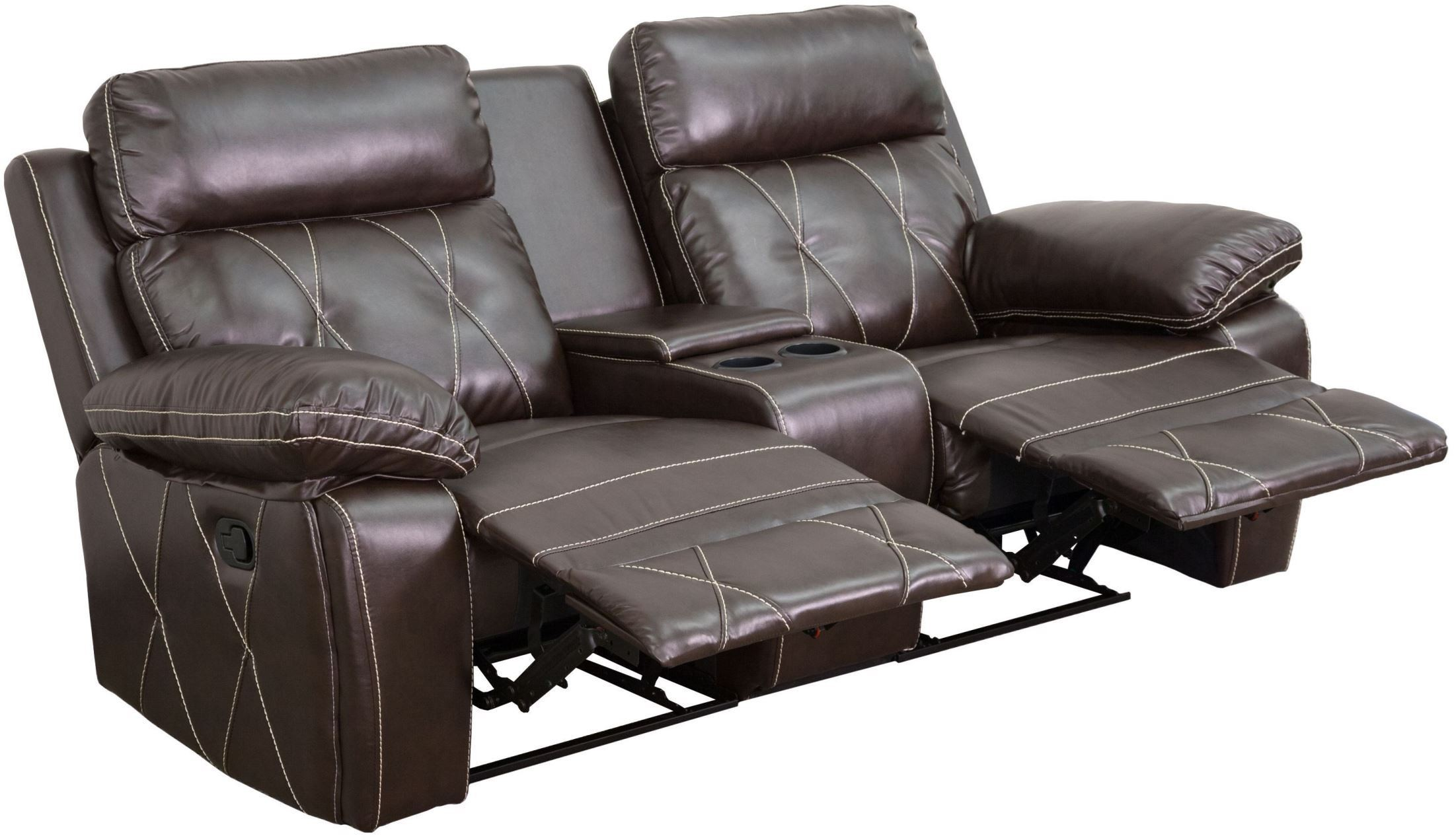 2 seat theater chairs chair covers hire bolton reel comfort series reclining brown leather