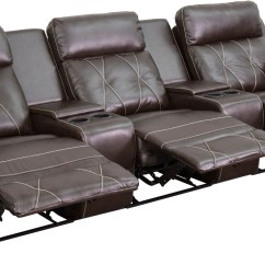 Theater Chairs With Cup Holders 2 Seater Round Dining Table And Reel Comfort Series 3 Seat Reclining Brown Leather