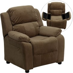 Kid Recliner Chair Bertoia Diamond Cover Deluxe Heavily Padded Brown Kids Storage Arm From