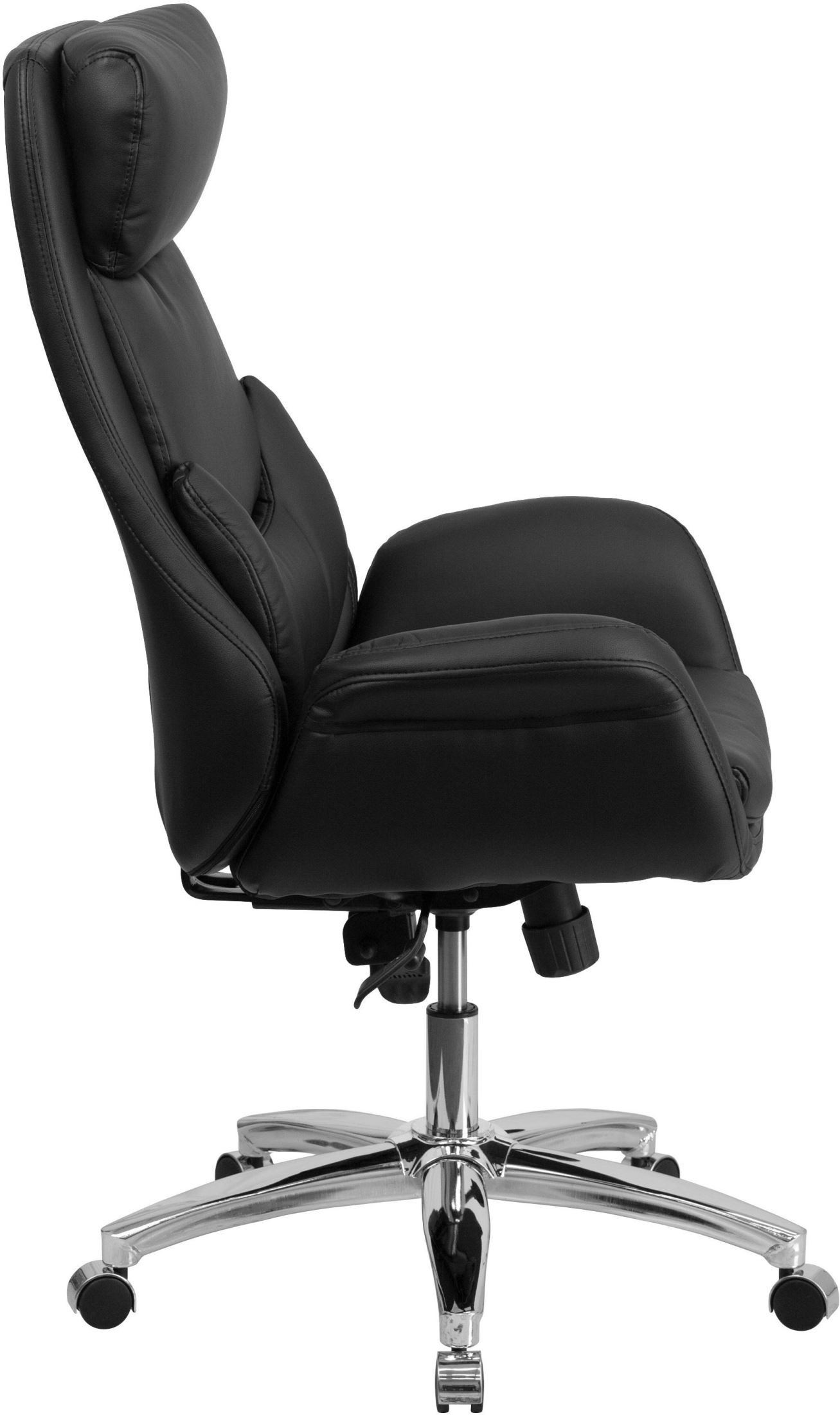 Lumbar Pillow For Chair Tall Black Executive Swivel Office Chair With Lumbar