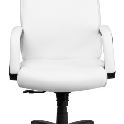 Office Chairs White Leather Patio Furniture Swivel Rocking High Back Executive Chair From