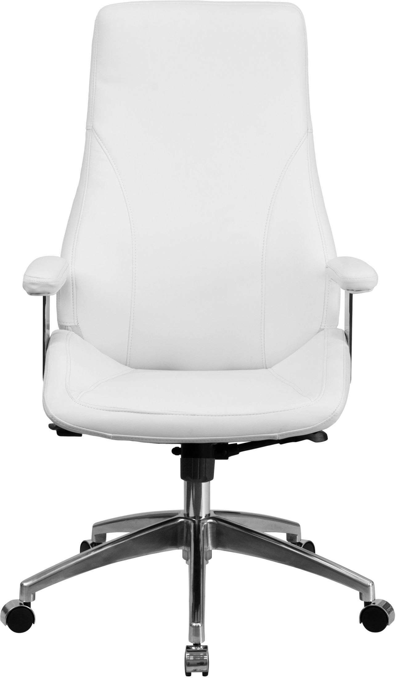white leather swivel desk chair cover hire evesham high back bonded executive office