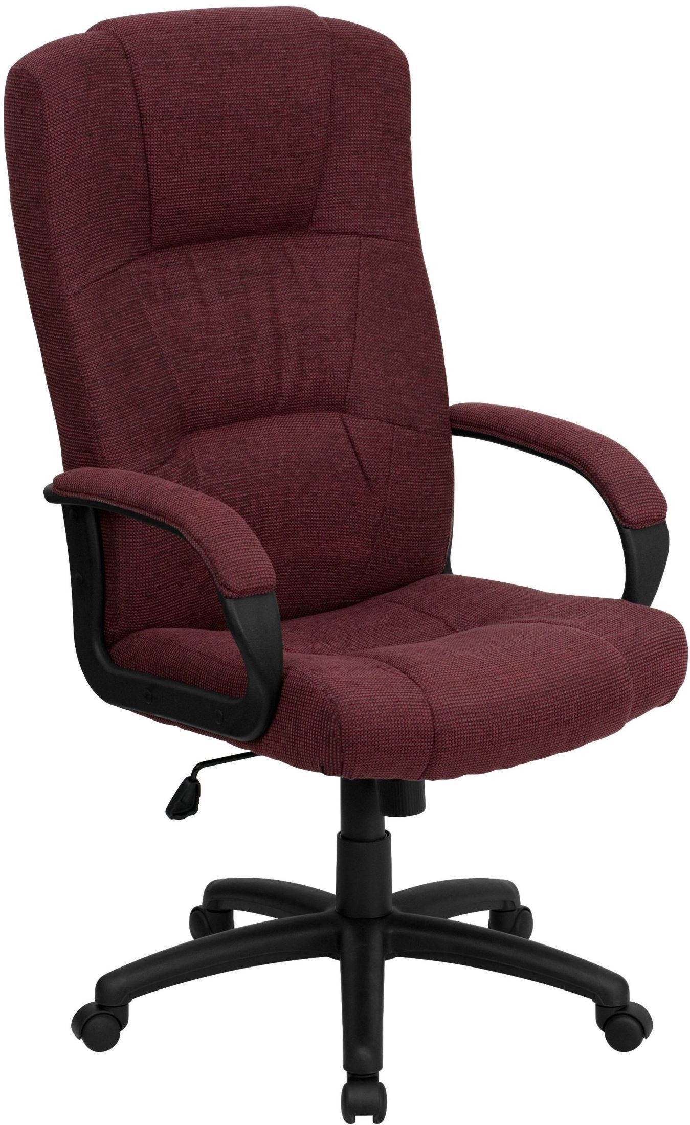 Burgundy Office Chair High Back Burgundy Fabric Executive Office Chair Bt 9022