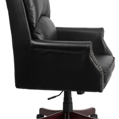 Tall Desk Chairs With Backs Infant Play Chair Pillow Back Black Executive Swivel Office From