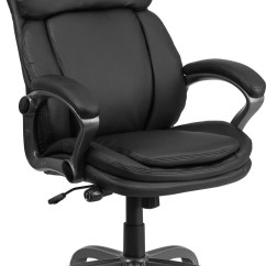 Coleman Lumbar Quattro Chair Counter Height Tall Black Executive Swivel Office With