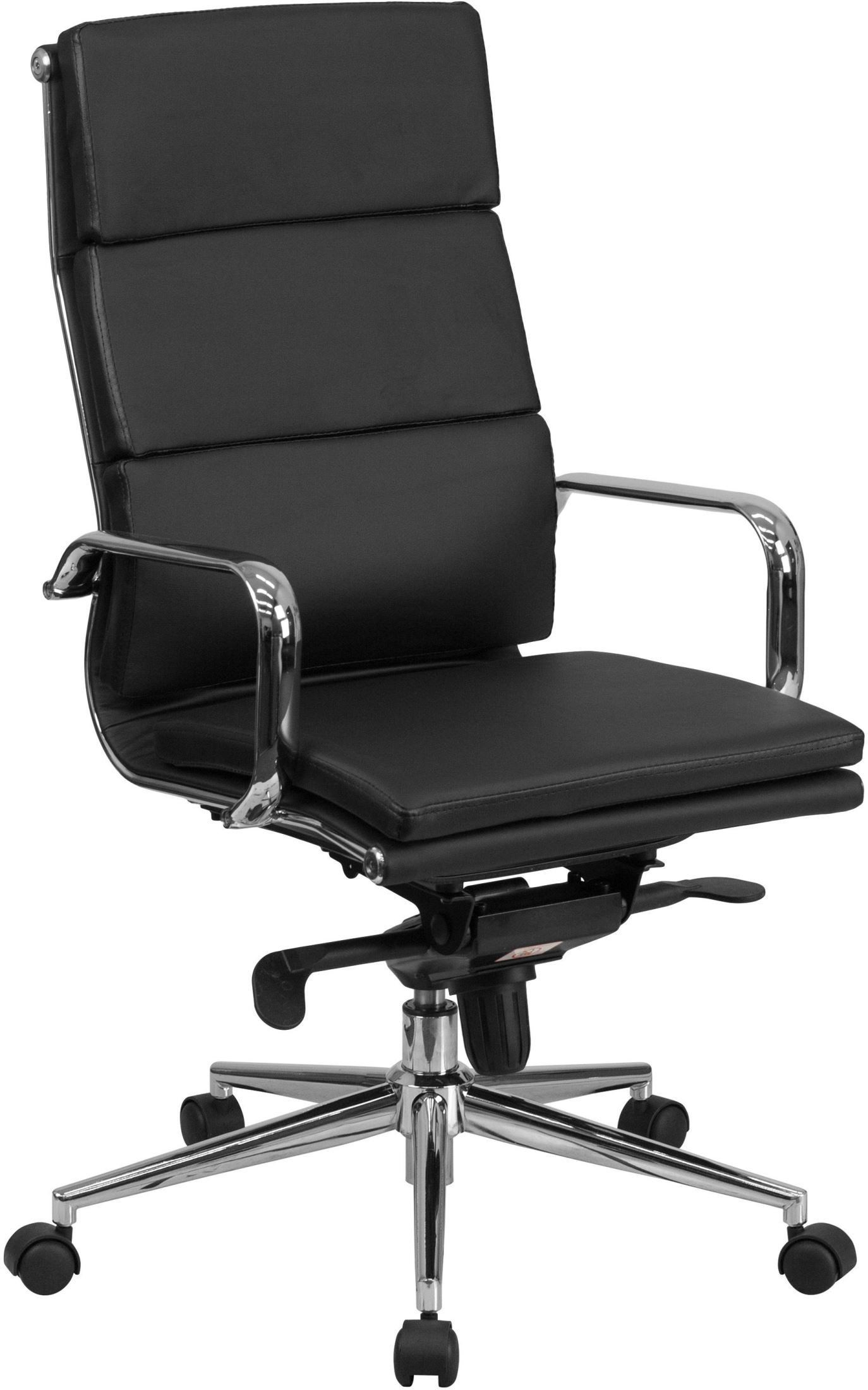 Black Swivel Chair Tall Black Executive Swivel Office Chair With Synchro Tilt