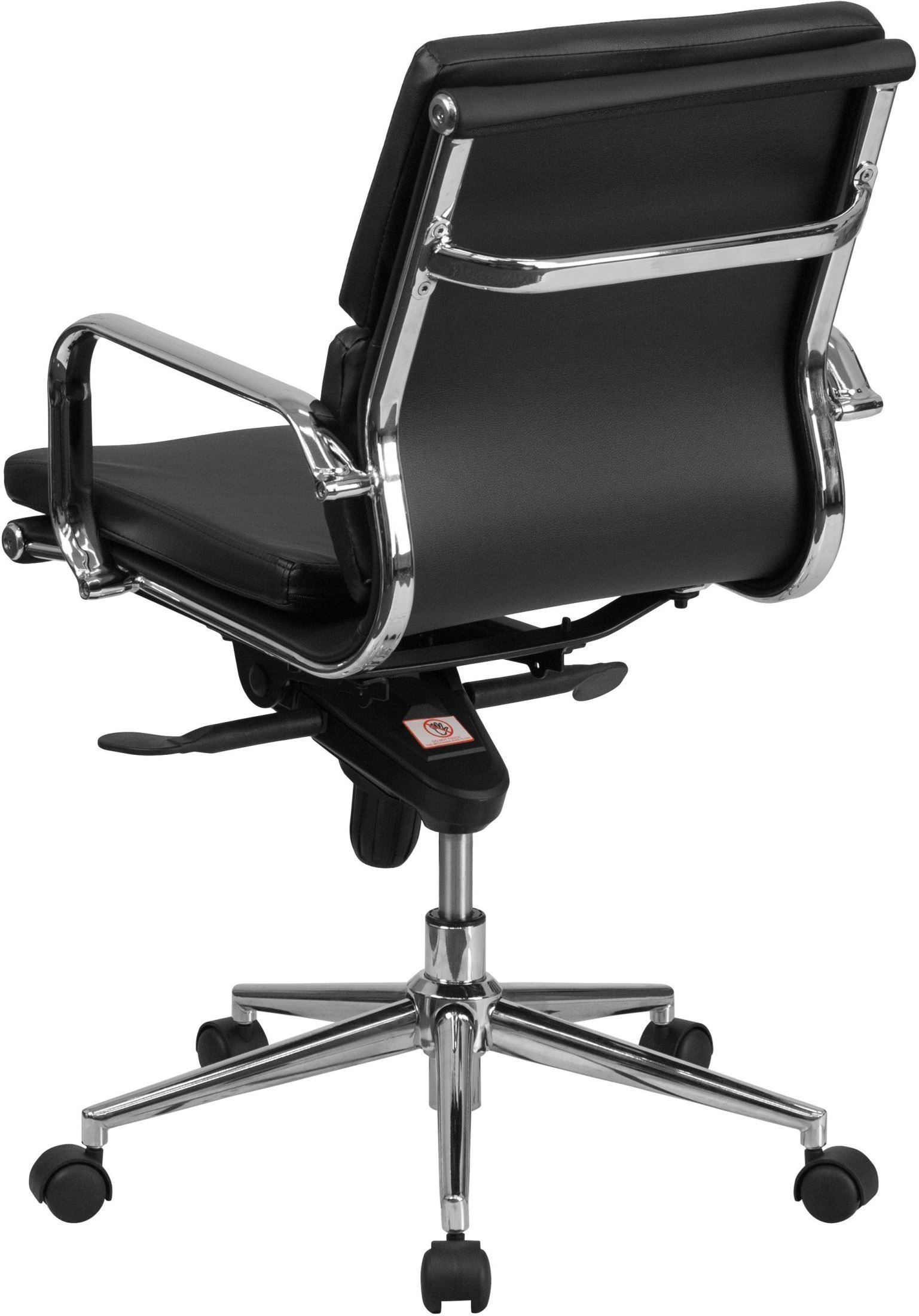 ergonomic chair tilt baby swing qatar mid back black leather executive swivel office with